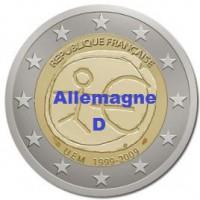 2 €uros 2009 UEM - EMU Allemagne D (UNC Sortie de Rouleau)