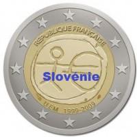 2 €uros 2009 UEM - EMU Slovénie (UNC Sortie de Rouleau)