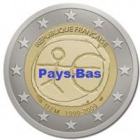 2 €uros 2009 UEM - EMU Pays-Bas (UNC Sortie de Rouleau)