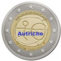 2 €uros 2009 UEM - EMU Autriche (UNC Sortie de Rouleau)