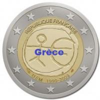 2 €uros 2009 UEM - EMU Grèce (UNC Sortie de Rouleau)