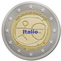 2 €uros 2009 UEM - EMU Italie (UNC Sortie de Rouleau)