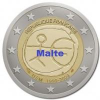 2 €uros 2009 UEM - EMU Malte (UNC Sortie de Rouleau)