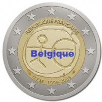 2 €uros 2009 UEM - EMU Belgique (UNC Sortie de Rouleau)