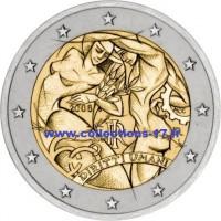 2 €uros Italie 2008 (UNC Sortie de Rouleau)