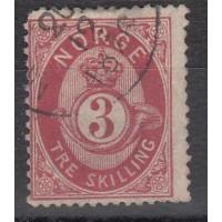 Norvege - numéro 18 - oblitéré