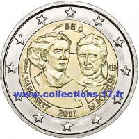 2 €uros Belgique 2011 (UNC Sortie de Rouleau)