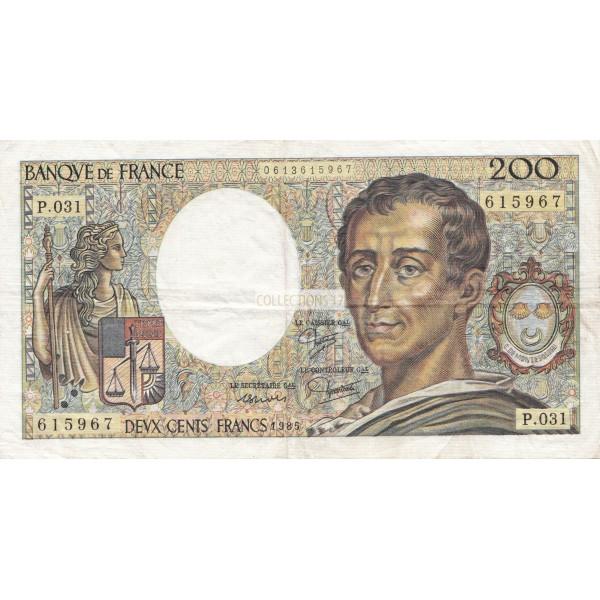 200 Francs Montesquieu 1985