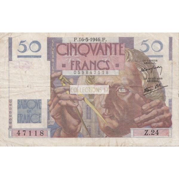 50 Francs Le Verrier 16-5-1946