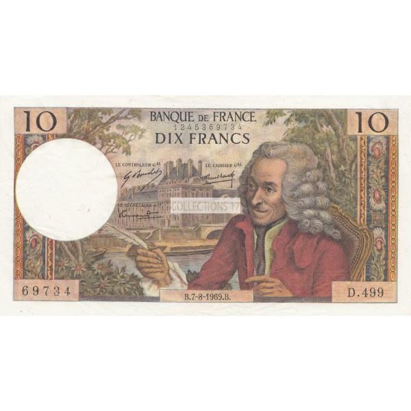 10 Francs Voltaire 7-8-1969