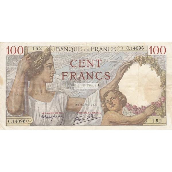 100 Francs Sully 16-8-1940