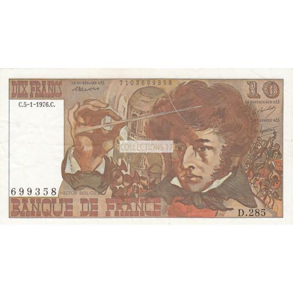 10 Francs Berlioz 5-1-1976