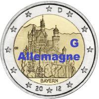 """2 €uros Allemagne 2012 """"G"""" (UNC Sortie de Rouleau)"""