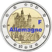 """2 €uros Allemagne 2012 """"F"""" (UNC Sortie de Rouleau)"""