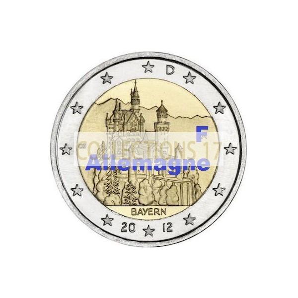 """2 €uros Allemagne 2012 """"F"""""""