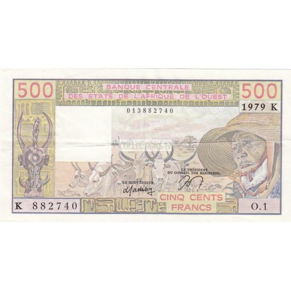500 Francs Afrique de L'ouest