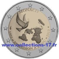 2 €uros Monaco 2013 (UNC Sortie de Rouleau)