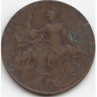 5 Centimes  Dupuis 1909