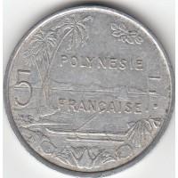 5 Francs Polynésie-Française 1977
