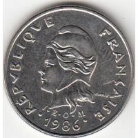 10 Francs Polynésie-Française 1986