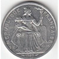 2 Francs Polynésie-Française 1989