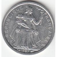 1 Franc Polynésie-Française 1987