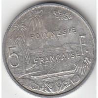 5 Francs Polynésie-Française 1982