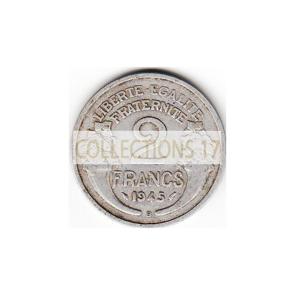 2 Francs Morlon 1945B - alu