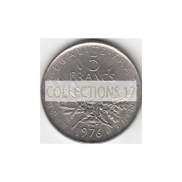 5 Francs Semeuse - 1976