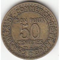 50 centimes Chambres de Commerce 1929