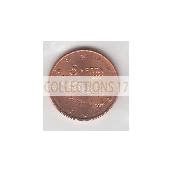 5 Centimes Grèce 2002