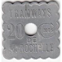 Jeton de Tramways - 20 ctmes La Rochelle -