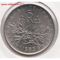 5 Francs Semeuse 1985 Abeille
