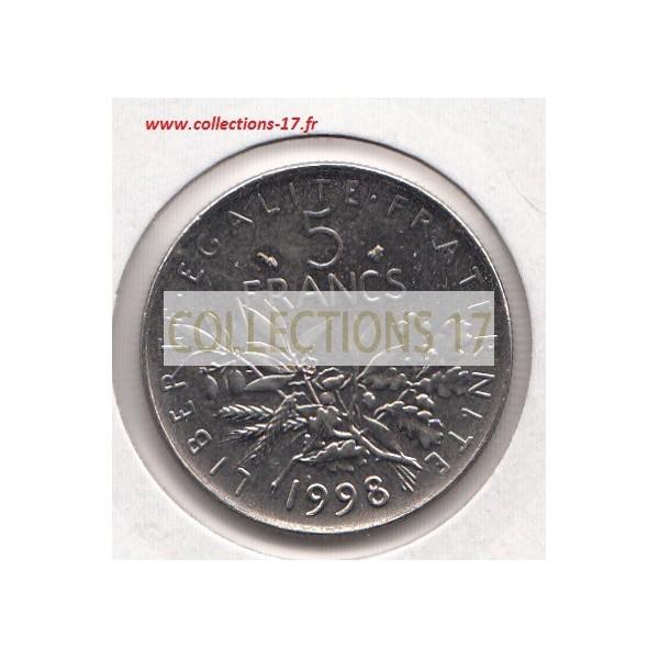5 Francs Semeuse 1998