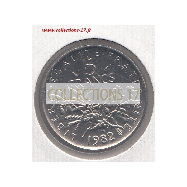 5 Francs Semeuse 1982