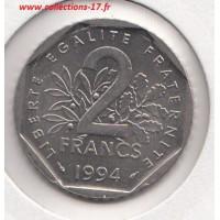 2 Francs Semeuse 1994 dauphin