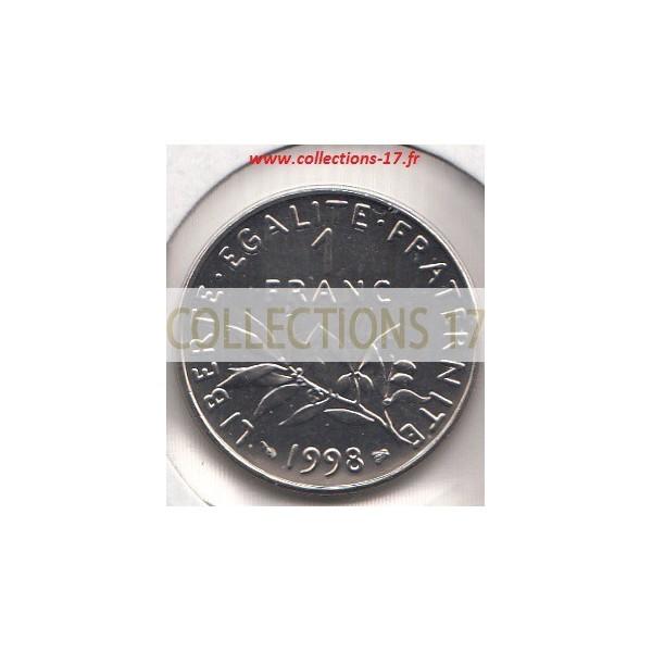1 Franc Semeuse 1998