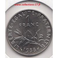 1 Franc Semeuse 1988
