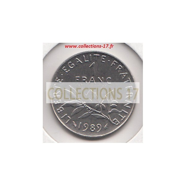 1 Franc Semeuse 1989
