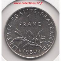 1 Franc Semeuse 1980
