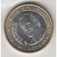 1 Euro Espagne 2008 (UNC Sortie de Rouleau)