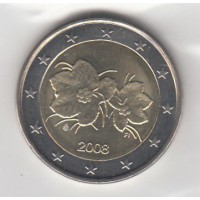 2 Euros Finlande 2008 (UNC Sortie de Rouleau)