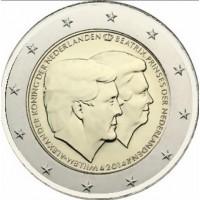 2 €uros Pays-Bas 2014 (UNC Sortie de Rouleau)