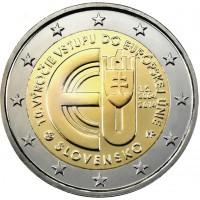 2 €uros Slovaquie 2014 (UNC Sortie de Rouleau)