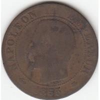 5 Centimes Napoléon III 1855BB ancre