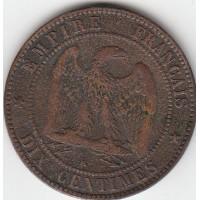 10 Centimes Napoléon III 1855K ancre