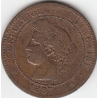 10 Centimes Ceres 1887A