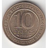 10 Francs Millénaire Capétien - 1987