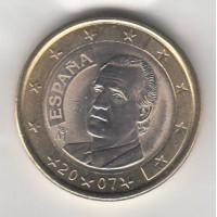 1 Euro Espagne 2007 (UNC Sortie de Rouleau)