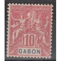 Gabon - numéro 20 - neuf avec charnière
